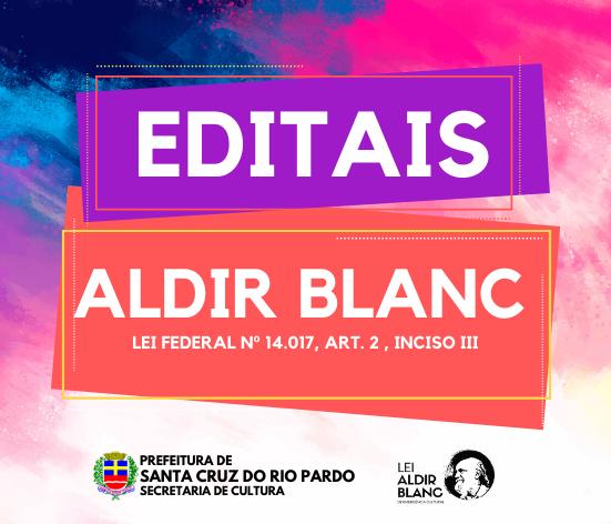 LEI ALDIR BLANC – EDITAIS