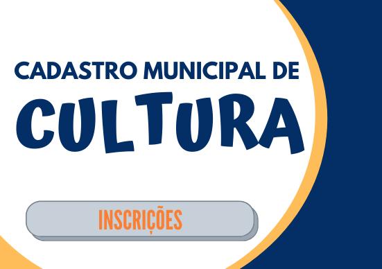 Cadastro Municipal de Cultura