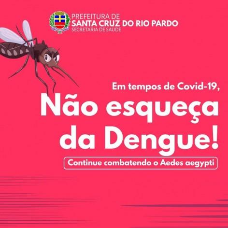 Santa Cruz no combate Aedes aegypti, vamos combater os focos de acúmulo de água!