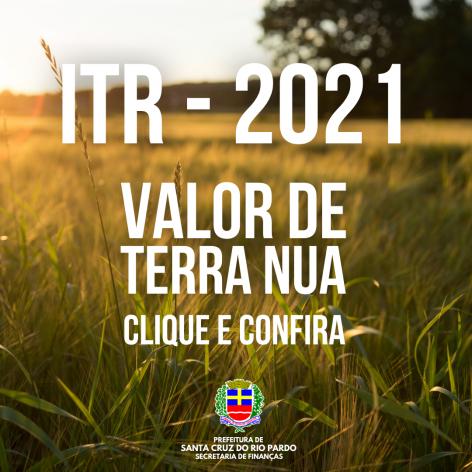 VALORES DE TERRA NUA - PARA FINS DE VALOR VENAL E DECLARAÇÃO DE ITR
